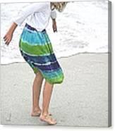 Beach Play Time Canvas Print