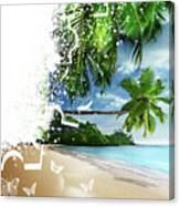 Beach Puzzle Canvas Print
