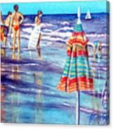 Beach Quintessentials-the Digitals Canvas Print