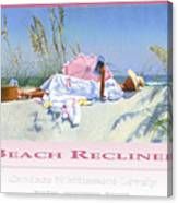 Beach Recliner Poster Canvas Print