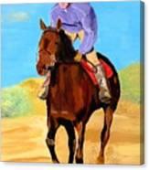 Beach Rider Canvas Print