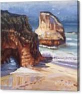 Beach Rocks Canvas Print