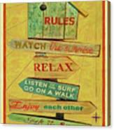 Beach Rules  Canvas Print