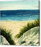 Beach Sand Dunes Acrylic Painting Canvas Print