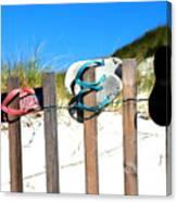 Beach Sandels  Canvas Print