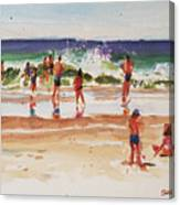 Beach Scene, Afternoon Canvas Print