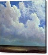 Beach Scene Albert Bierstadt Canvas Print