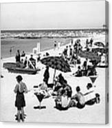 Beach Scene At Cape Cod Canvas Print