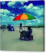Beach Scene Pawleys Island Sc Canvas Print