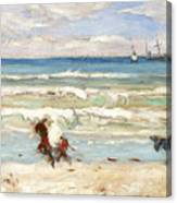Beach Scene Tangier Canvas Print