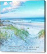 Beach Scripture Verse  Canvas Print