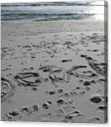Beach, Self-named Canvas Print