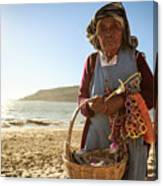 Beach Seller Canvas Print