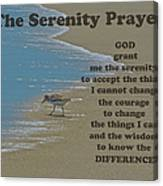 Beach Serenity Prayer Canvas Print