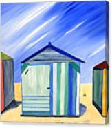 Beach Shacks Canvas Print