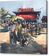 Beach Show Jamaica Canvas Print