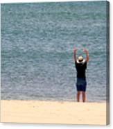 Beach Side Exercises Canvas Print