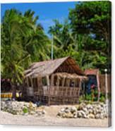 Beach Side Nipa Hut Canvas Print