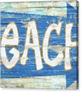 Beach Sign Canvas Print