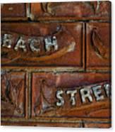 Beach Street Sign Nyc Canvas Print