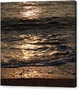 Sunrise Ocean Wave Reflection 1 Canvas Print