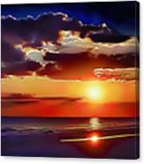 Beach Sunset 5184 Canvas Print