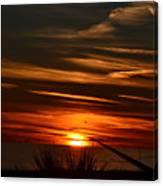 Beach Sunset Alabama Canvas Print