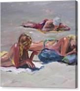 Beach Talk Canvas Print