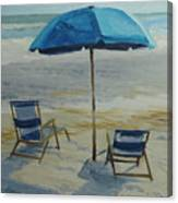 Beach Umbrella - Hilton Head Canvas Print