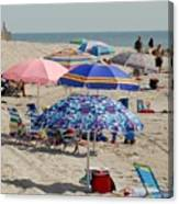 Beach Umbrella 27 Canvas Print