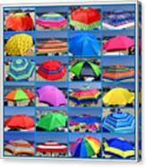 Beach Umbrella Medley Canvas Print