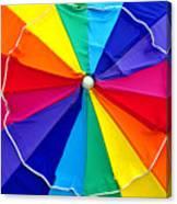 Beach Umbrella Panoramic Canvas Print