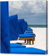 Beach Umbrellas 3 By Darrell Hutto Canvas Print