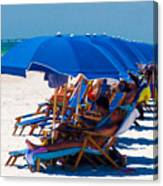 Beach Umbrellas By Darrell Hutto Canvas Print