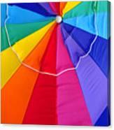 Beach Umbrella's Cell Phone Art Canvas Print