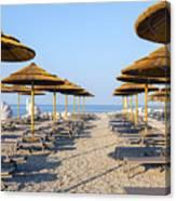 Beach Umbrellas  Canvas Print