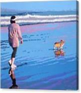 Beach Walk V.4 Canvas Print