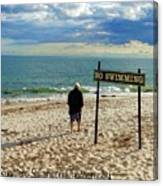 Beach Walking Canvas Print