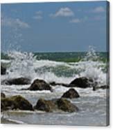 Beach Waves001 Canvas Print