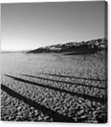 Beach With Shadows Canvas Print
