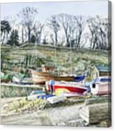 Beached Boats Dysart Canvas Print