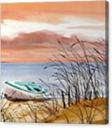 Beached In Breeze Canvas Print