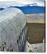 Beached Plane Wreckage - Iceland Canvas Print