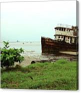 Beached Ship Canvas Print