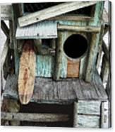 Beachfront Birdhouse For Rent 1 Canvas Print