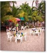 Beachfront Cafe Canvas Print
