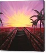Beachside Sunset Canvas Print