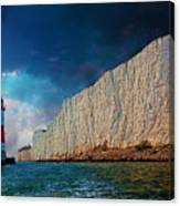 Beachy Head Lighthouse And Cliffs Canvas Print
