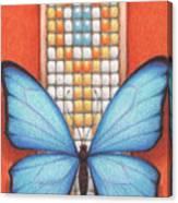 Beaded Morpho Canvas Print