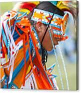 Beaded Pow Wow Dancer Canvas Print